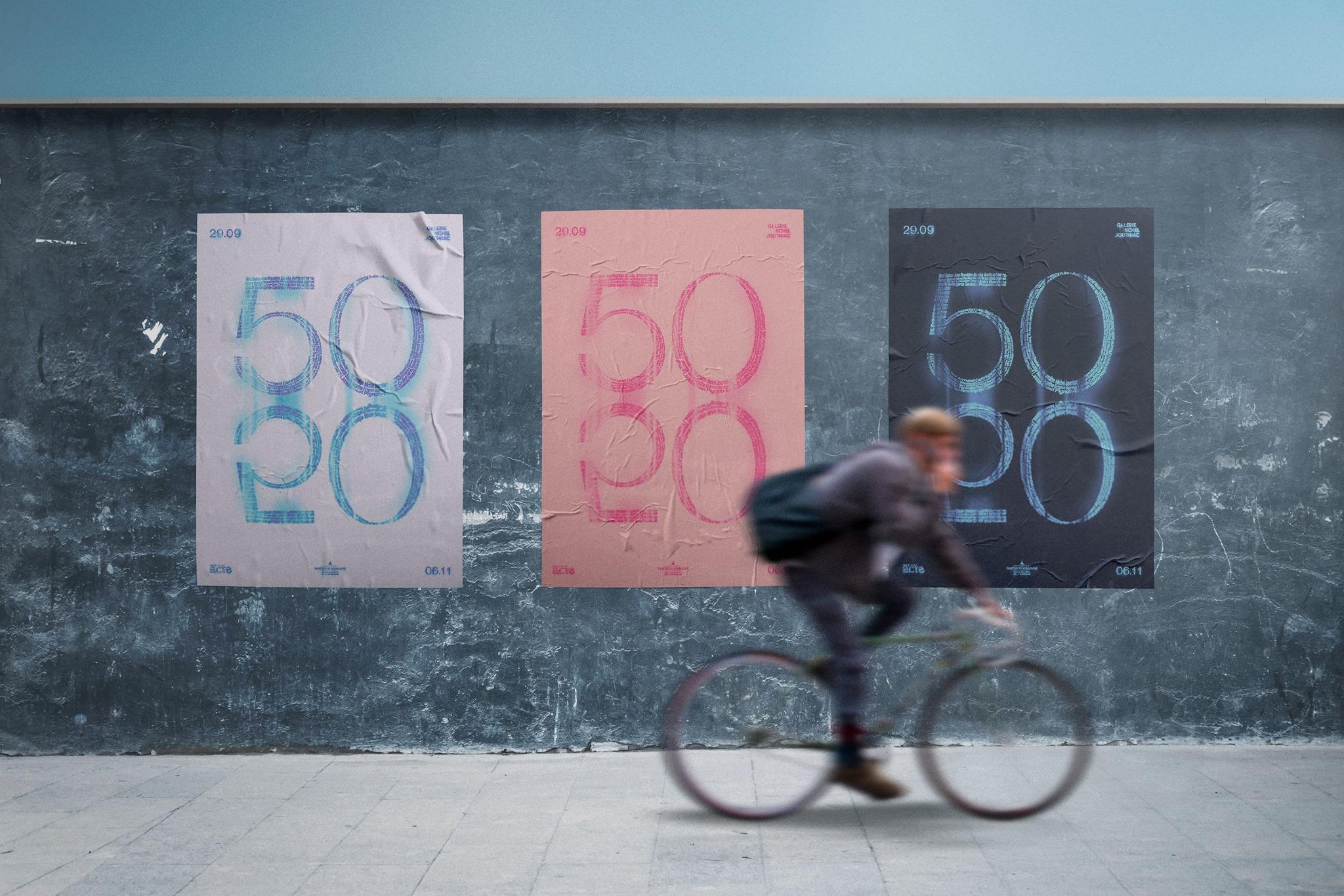 "Exposition ""50/50"" Galerie Michel Journiac Paris"