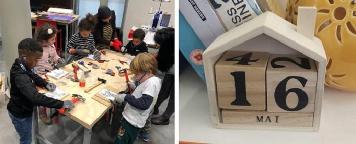 Fabrique ton calendrier en bois Centre Commercial Italie Deux/Rue Rangoli/Niveau 3 Paris