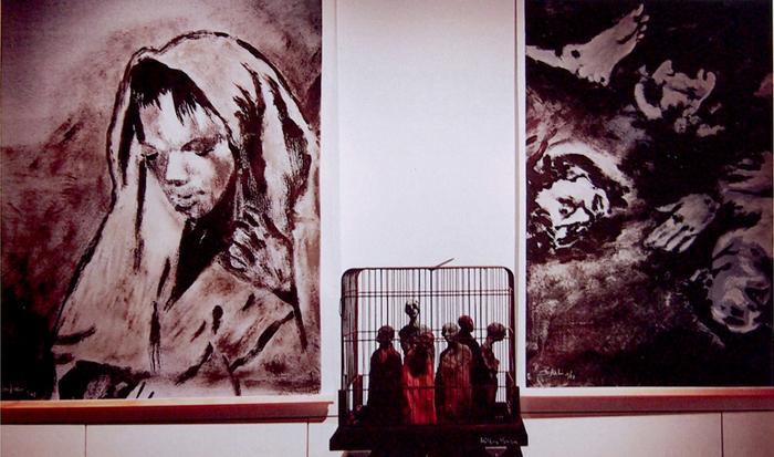Vernissage exposition Poussières d'espoir galerie l'éphémère