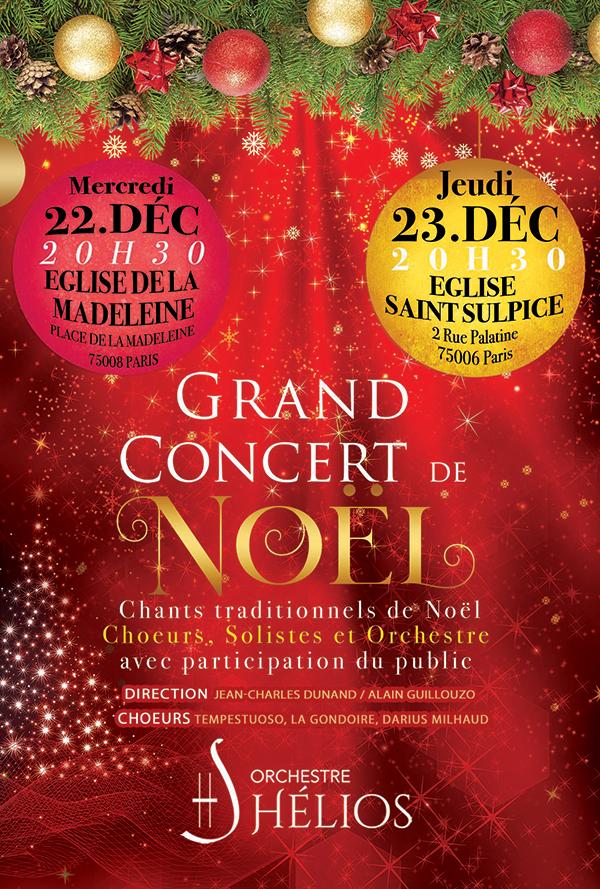 Grand Concert de Chants Traditionnels de Noël Eglise de la Madeleine Paris