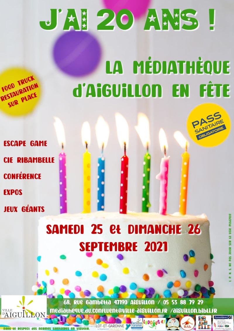 Les 20 ans de la médiathèque d'Aiguillon Aiguillon