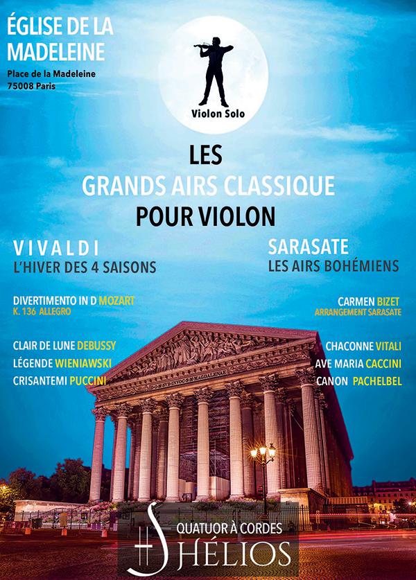 Les Grands Airs Classique pour Violon Eglise de la Madeleine Paris