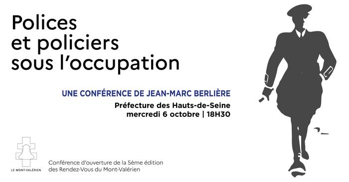 """""""Polices et policiers sous l'occupation"""" une conférence de Jean-Marc Berlière Préfecture des Hauts-de-Seine"""