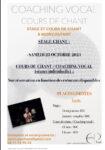 Stage chant / coaching vocal Moncoutant-sur-Sèvre   2021-10-23