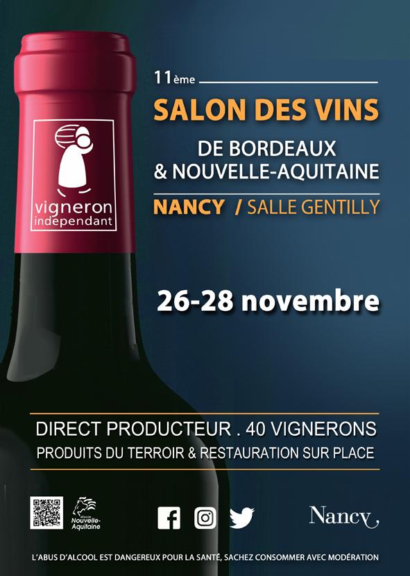 11ÈME SALON DES VINS DE BORDEAUX ET DE NOUVELLE-AQUITAINE Nancy