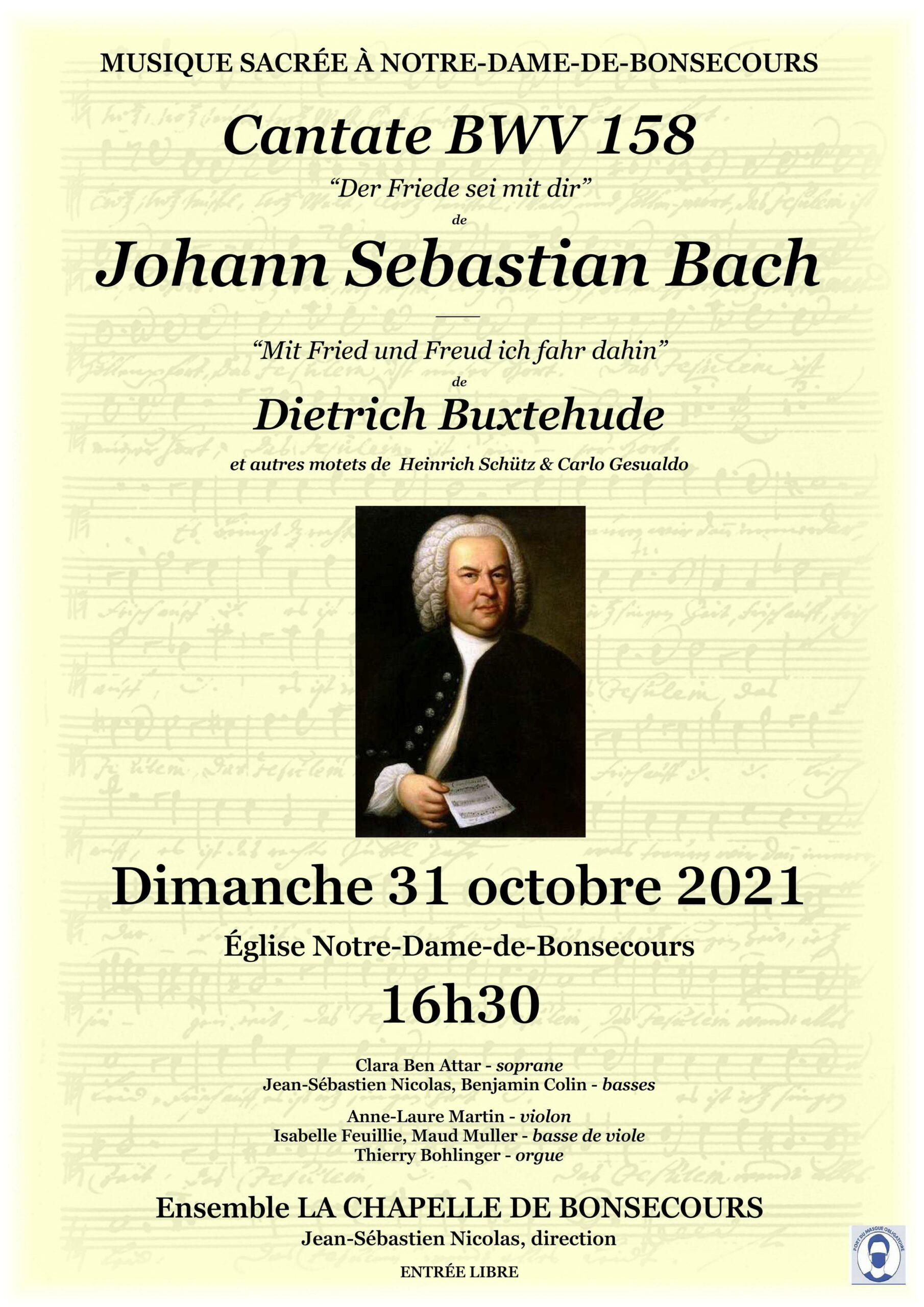 CANTATE BWV 158 DE JOHANN SEBASTIAN BACH Nancy
