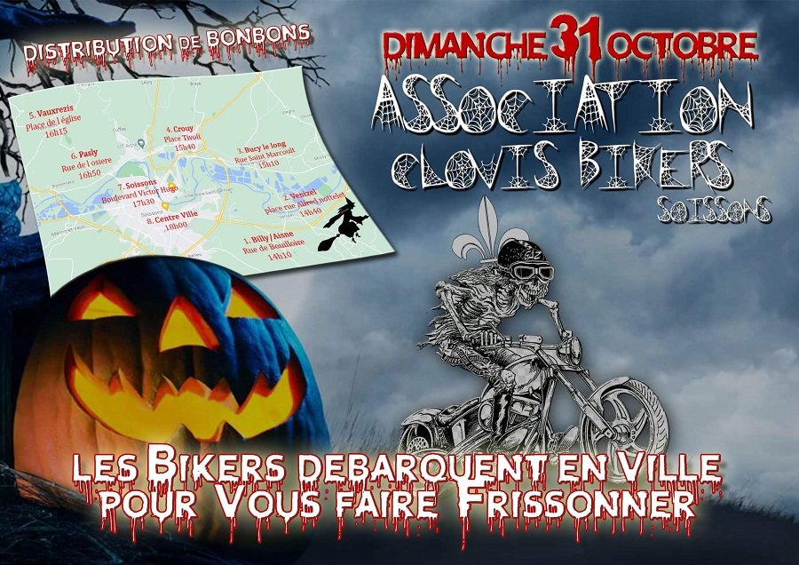 Clovis Bikers d'Halloween Soissons