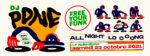FREE YOUR FUNK : DJ PONE ALL NIGHT LONG La Bellevilloise Paris