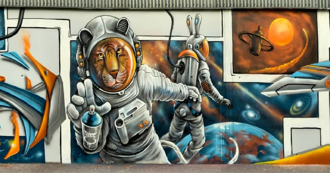 JUST DO PAINT 2021. LA NATURE GRAFFÉE DE KAZ