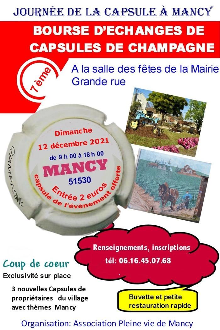 7 ème Bourse d'échanges de capsules de Champagne à Mancy Grande Rue Mairie Mancy 51530 Mancy