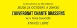 La Coopérative de Mai présente : L'Auvergnat chante Brassens Les trois baudets Paris