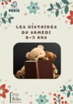Les histoires du samedi 0-3 ans Bibliothèque Rainer Maria Rilke Paris