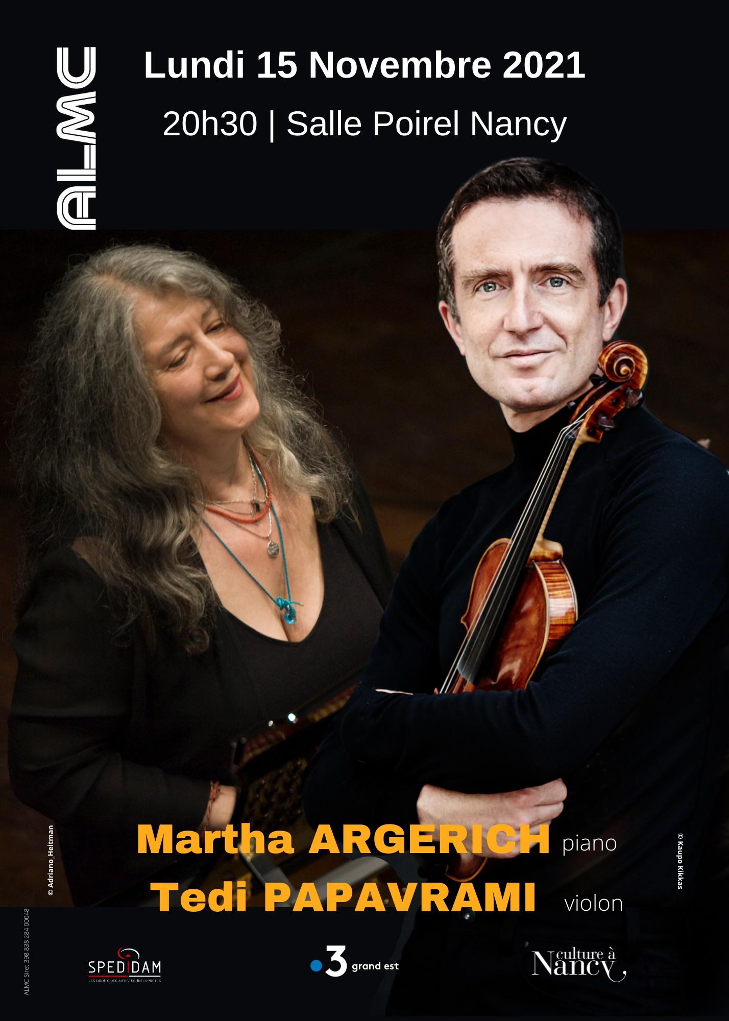 MARTHA ARGERICH PIANO & PEDI PAPAVRAMI VIOLON Nancy