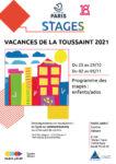 STAGES TOUSSAINT 2021 Centre Paris Anim' Hébert Paris