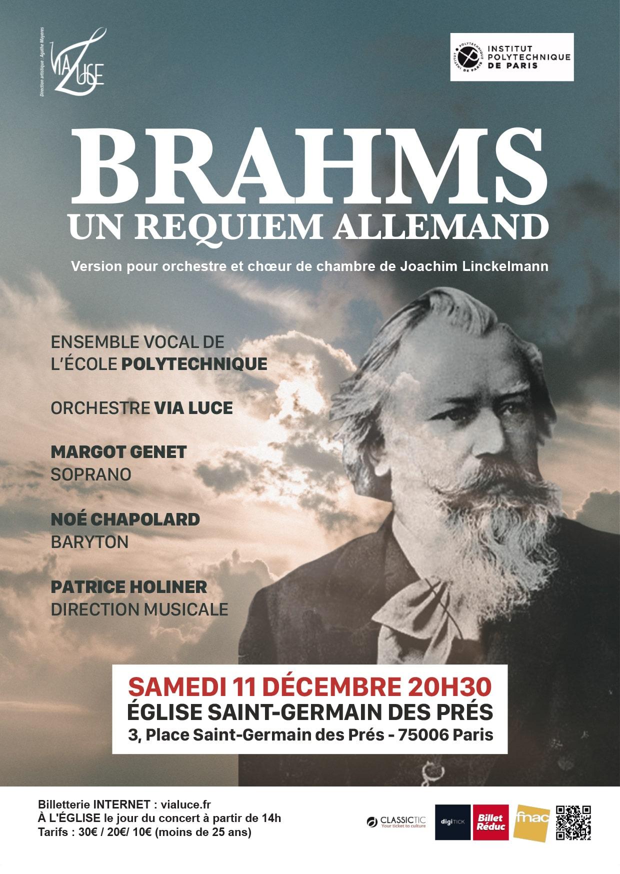 Un Requiem Allemand / Johannes Brahms Eglise Saint Germain des Prés Paris