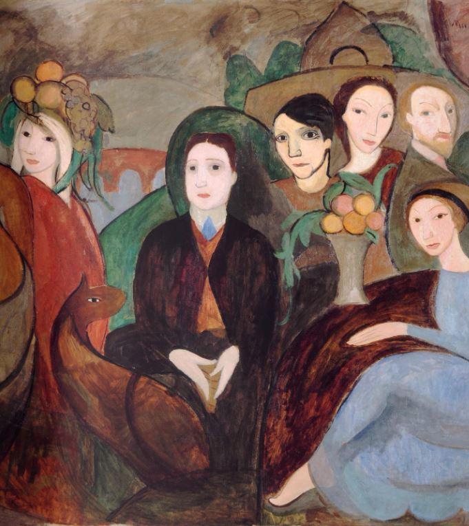 Marie Laurencin, Apollinaire et ses amis