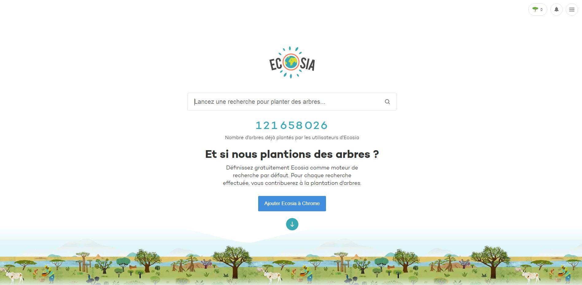 ecosia moteur de recherche ecoresponsable