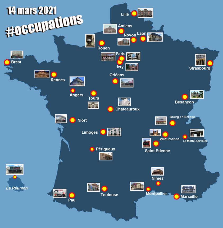 occupation théâtres france covid19